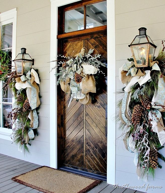 50 Stunning Christmas Porch Decorating Ideas - Style Estate -