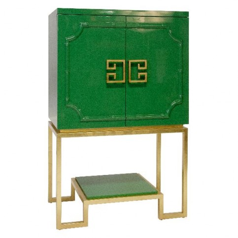 Green Lacquer Bar cabinet