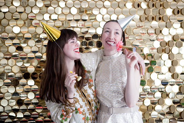 DIY Sequin Photobooth Idea for New Year's Eve