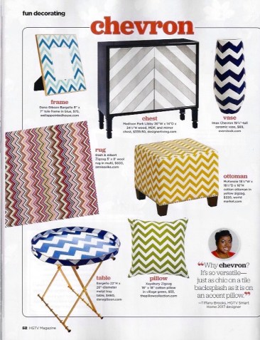 HGTV Magazine – Chevron Bargello Frame