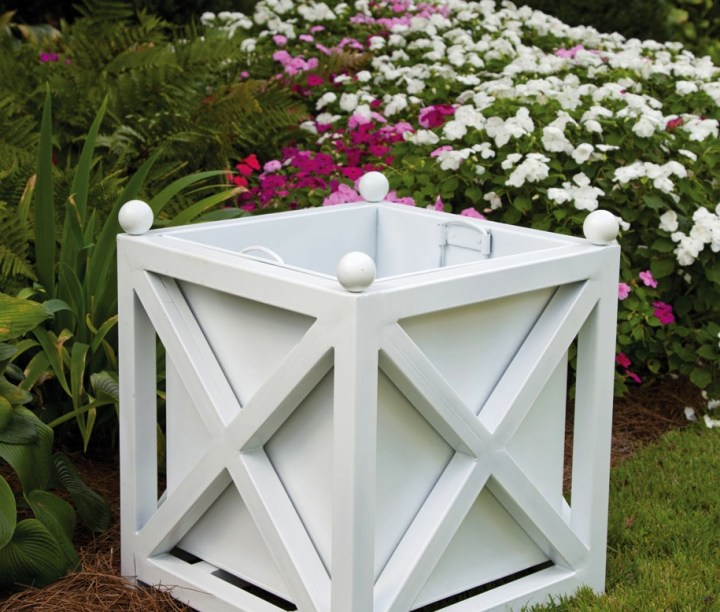 White Paris Planter