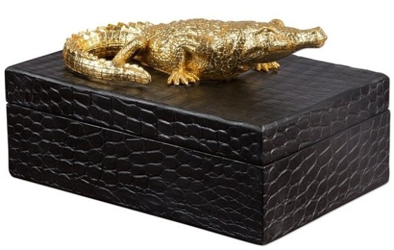 black-decorative-box-crocodile-skin-gold-crocodile-1