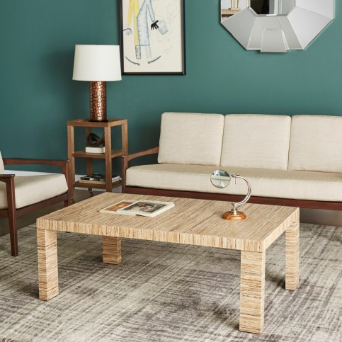 Morgan Papyrus Grasscloth Table $1185