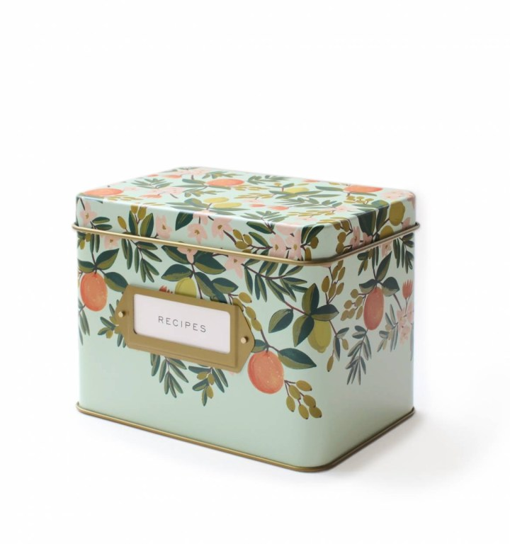 citrus-floral-kitchen-recipe-box-1