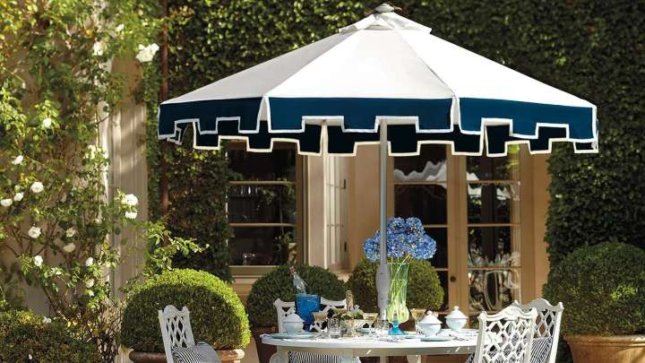 frontgate umbrella - Best Outdoor Patio Umbrellas: A Twist On The Expected! The Well