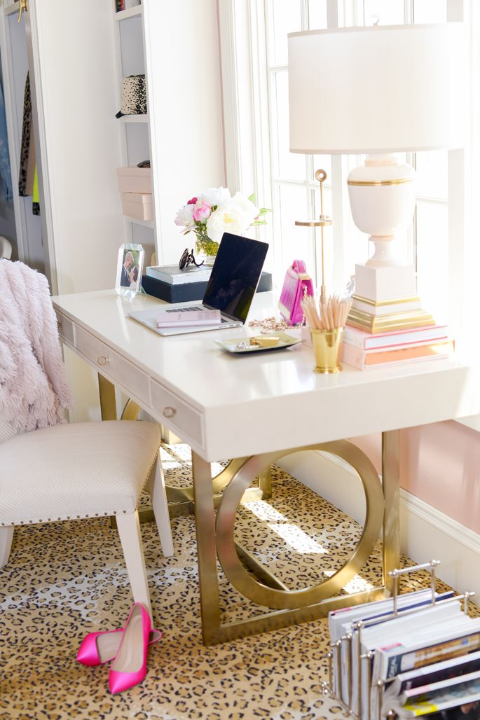 gold-white-acrylic-lacquer-desk-home-office-well-appointed-house