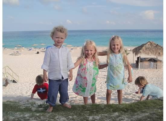 My kids playing at the beach in 2011 - Tuckers Point Bermuda.