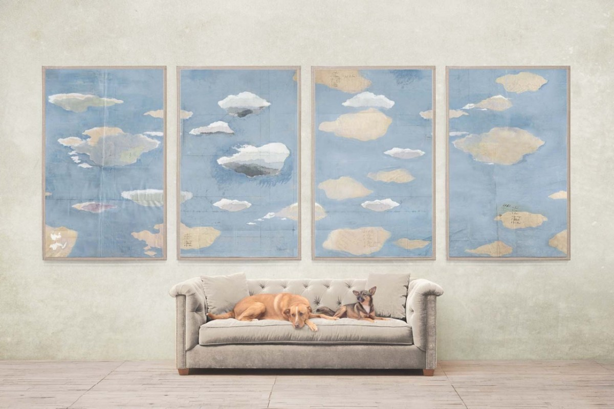 Perfect Here we see Clouds in the home of designer and stylist Rebecca de Ravenel us home in Domino Magazine