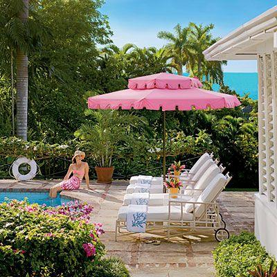 Awesome Pink Umbrella Patio