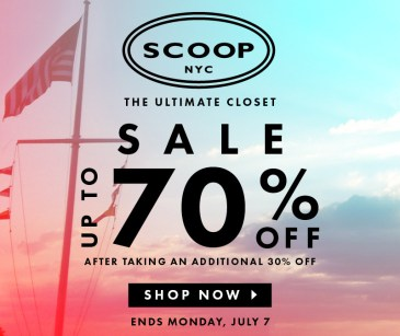 July 4th 2014 Weekend Sales: The Well Appointed House, Urban Outfitters, Scoop, Alice & Olivia, Barney's, Intermix and more!