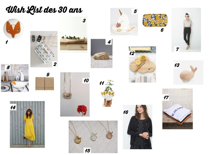 wish list 30 ANS
