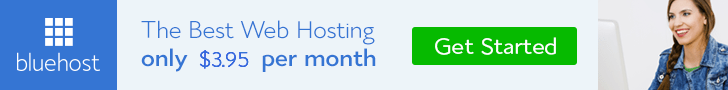 Bluehost Web Hosting Banner