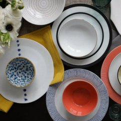 5 Piece Kitchen Table Set Formica Cabinets Mix + Match Dinnerware: Place Settings By The ...