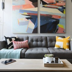 Living Room Inspiration Grey Sofa Paint Color Ideas Black Furniture Small Mid-century
