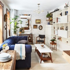 Living Room Design Small Space Vintage Style Rooms Scandinavian For Tiny Transformation In Nyc West Elm