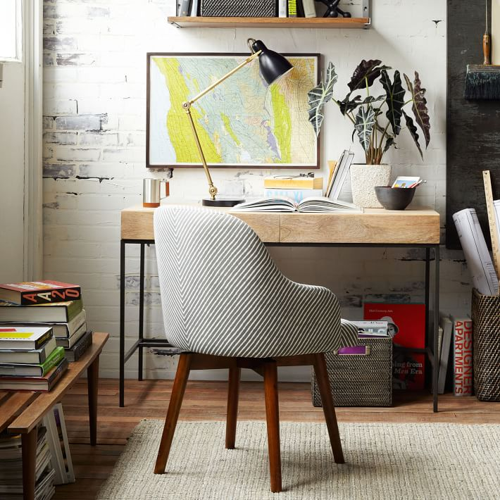 saddle office chair west elm mission style chairs industrial storage desk