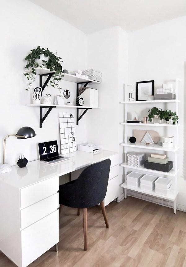 Amy Kim' Black White Workspace - Front Main