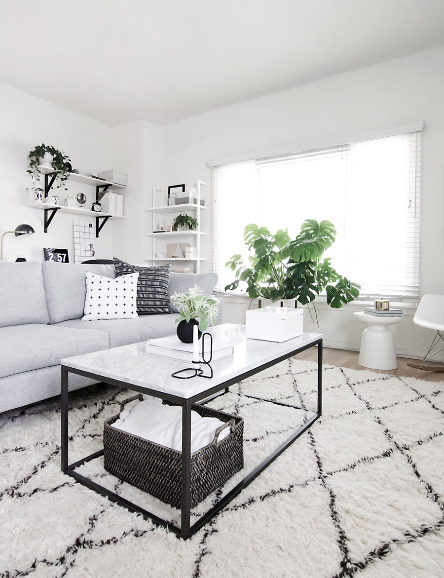 white modern living room chaise how to perfect your coffee table game in 3 simple steps front main west elm black and by amy kim of homey oh my