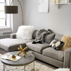 Morden Living Room Pictures Of Apartments A Modern Monochrome Front Main West Elm Steffy Kuncman S