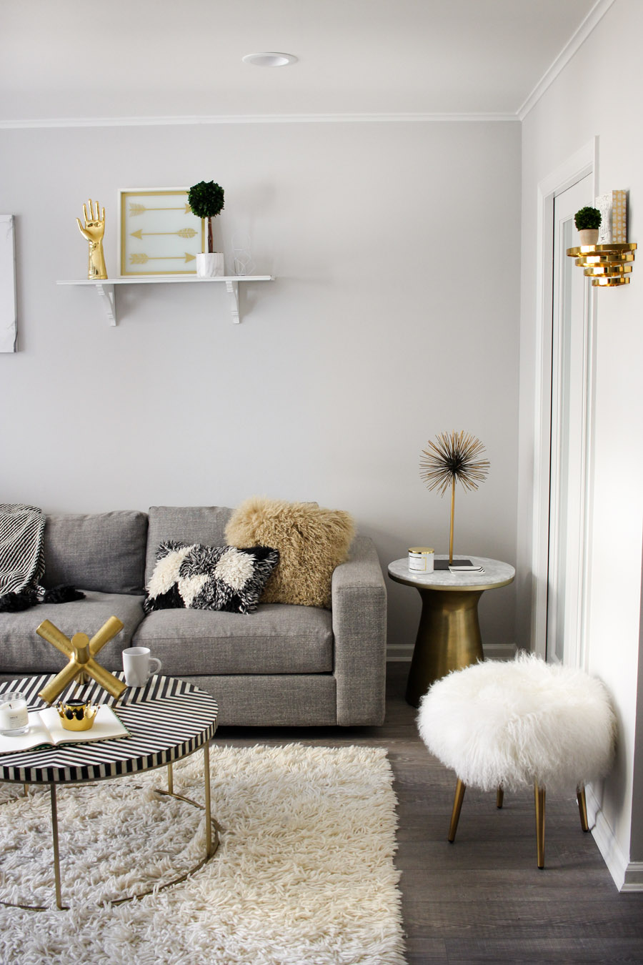 west elm living rooms room coffee and end tables a modern monochrome front main steffy kuncman s