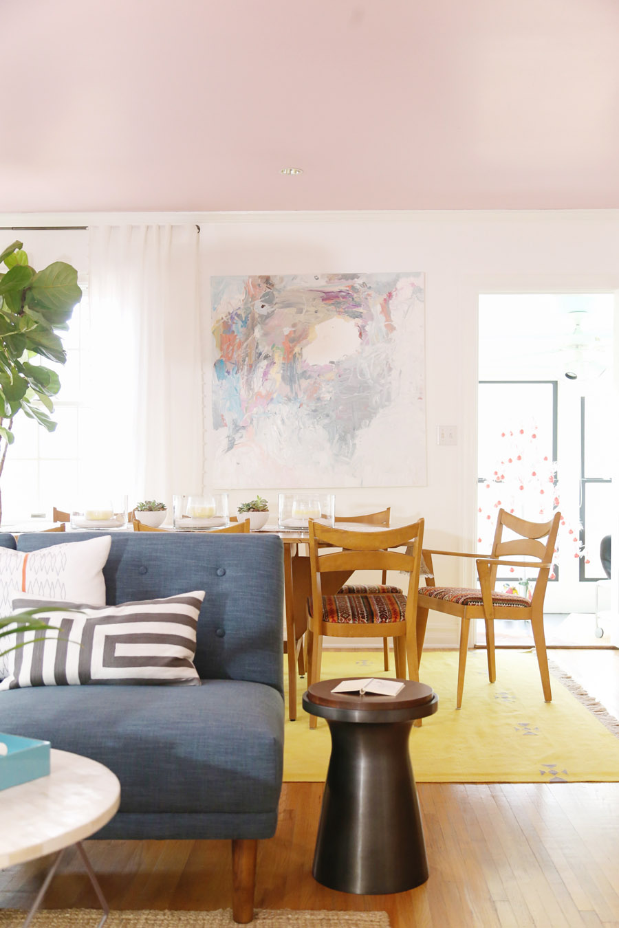 A Living Dining Room Gets A Mid Century Makeover Front