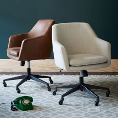 Office Club Chairs Slim Spaces High Chair Helvetica Upholstered West Elm