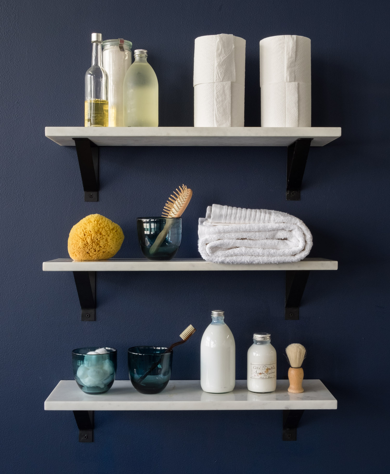 How To Organize A Bathroom How To Keep Open Bathroom Shelving Organized Front Main