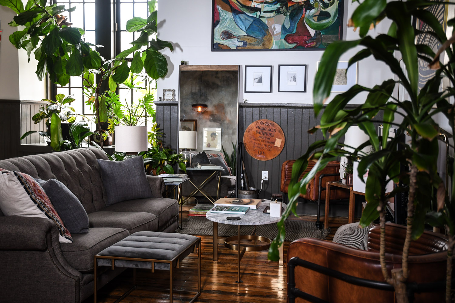 A Baltimore Loft Filled Floor To Ceiling With Plants