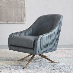 Swivel Chair In Living Room Office Accessories Singapore Roar Rabbit Leather West Elm