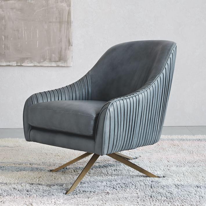 swivel chair west elm patio cushions johannesburg roar rabbit leather