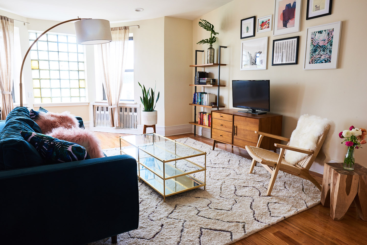 monroe sofa extra small corner making the most of a first apartment - front + main