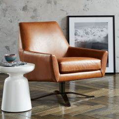 Swivel Chair West Elm Toddler Booster Lucas Leather Base