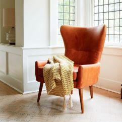 Leather Chair Modern Folding Rocker Lawn Erik Wing West Elm