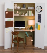How To Transform A Closet Into A Home Office - Front + Main