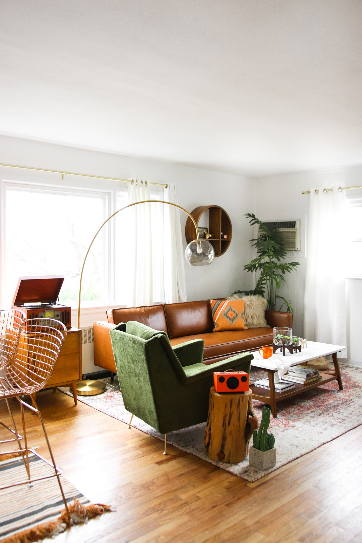 west elm living rooms modern room lighting ceiling considered color in a makeover front main steffy s mid century
