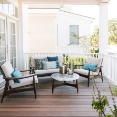 William Sonoma Chair Covers Folding Outdoor House Tour: A Modern, Coastal Oasis For Leesa Mattress Co-founder David Wolfe - Front + Main