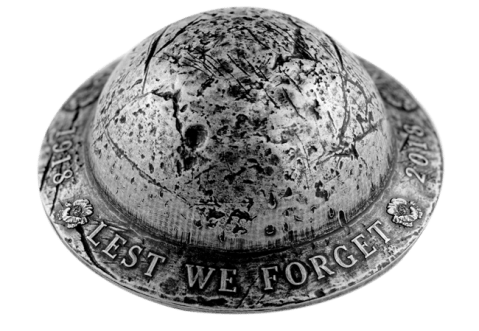 Canada 2018 Silver Helmet Coin Product Image Top - This remarkable new Armistice Centenary issue is so unique its production techniques have been kept a closely guarded secret…