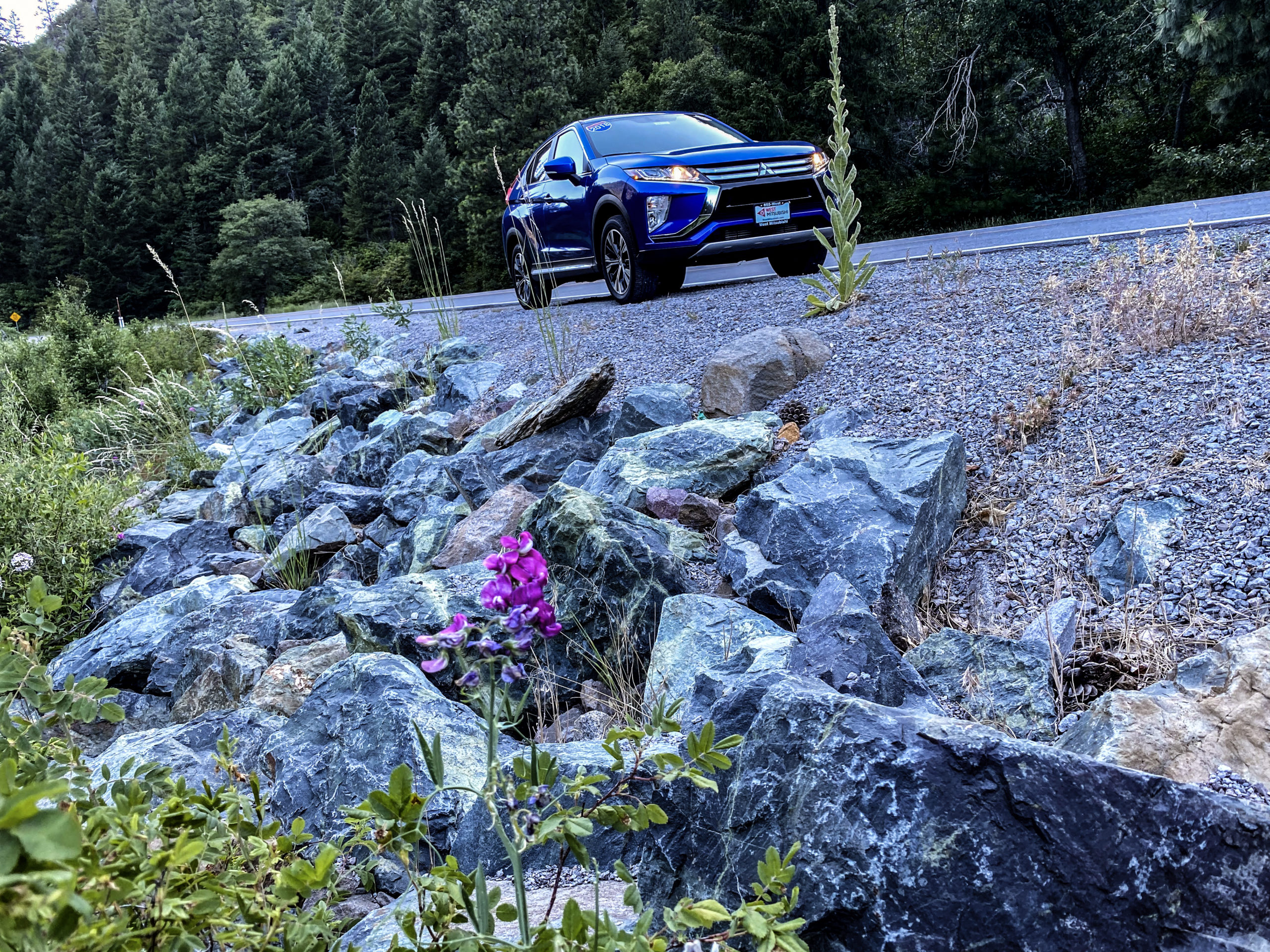 2018 Mitsubishi Eclipse Cross in the Feather River Canyon