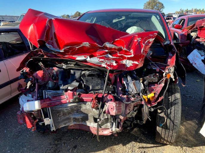 This 2019 Mitsubishi Outlander Sport was involved in a head-on collision at 55 miles per hour... the driver walked away unhurt.