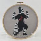 Jack the Zebra Hoop Art