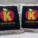 Kindergarten Monogramed Pillows