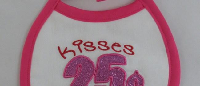 Kisses 25 Cents Bib