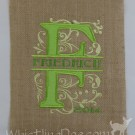 Friedrich Royal Split Burlap Applique