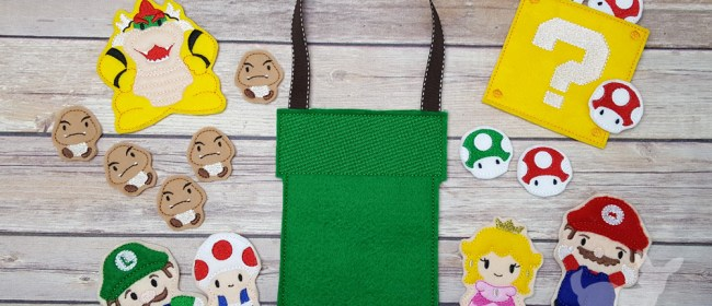 Mario Felt Finger Puppets