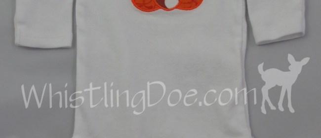 Pumpkin Applique 0-3mo Bodysuit