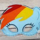 Rainbow Dash Felt Mask