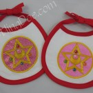 Sailor Moon R Locket Applique Bibs
