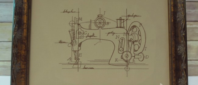 Vintage Sewing Machine Schematic