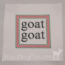 Goat Goat Personalized Cross Stitch