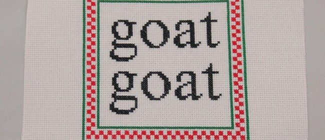 Goat Goat Personalized Cross Stitch